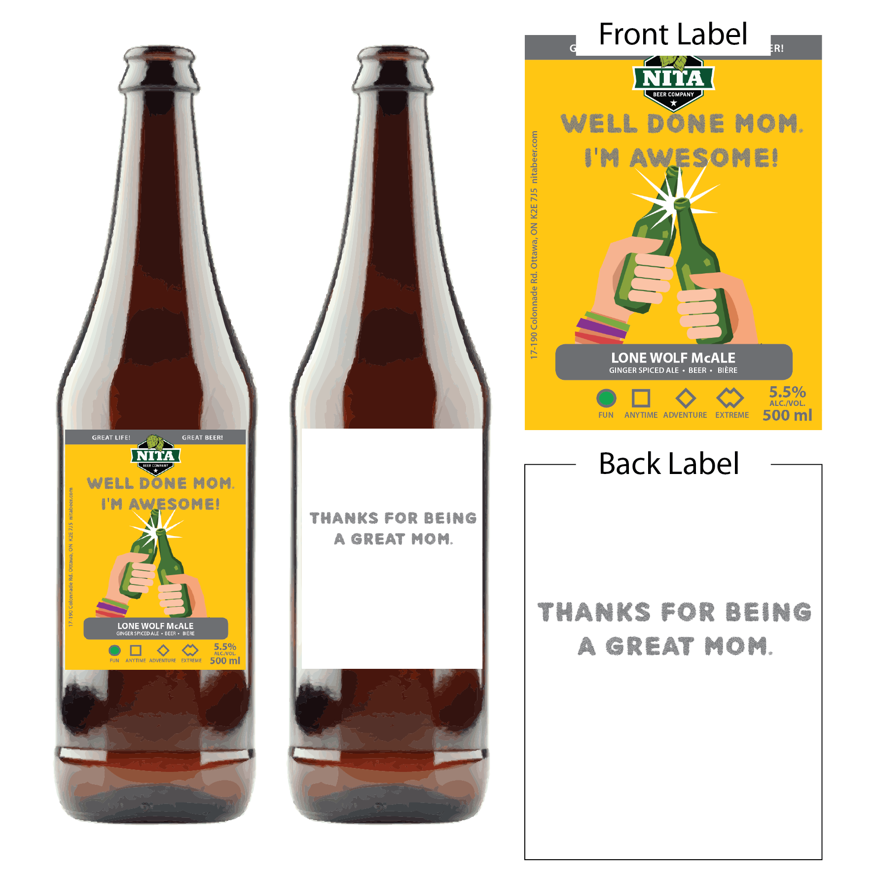 Mother's Day Beer Cards