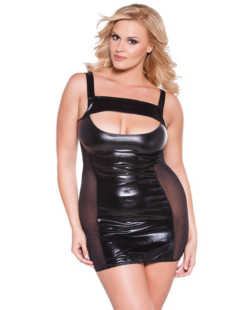 Plus Size Kitten Cut Out Dress