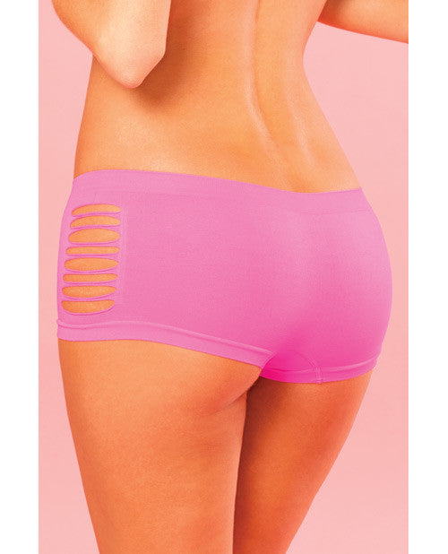 Pink Lipstick Sweat Pure Performance Side Slash Hot Short