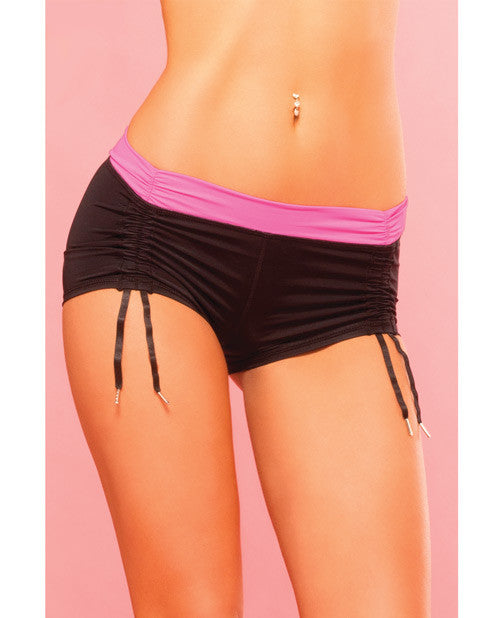 Pink Lipstick Sweat Fitness Cinch-able Hot Short