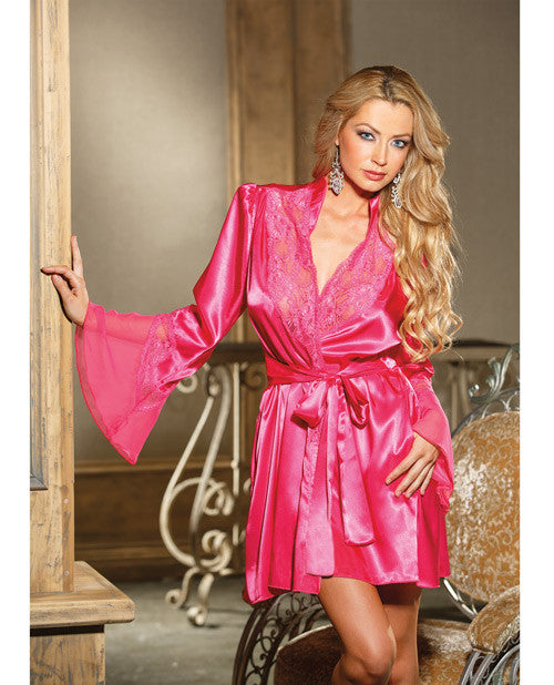 Lace Bell Sleeve Robe