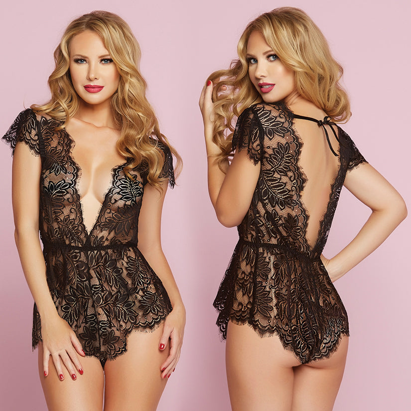 Temptation Eyelash Lace Romper