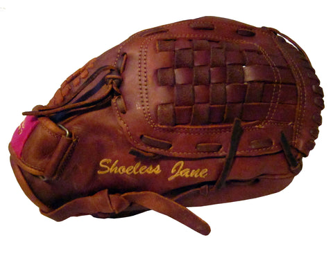 Personalized Embroidery on a fast pitch softball glove