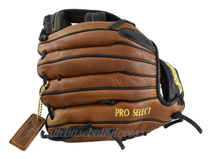 Back view 11 1/4-Inch Single Bar Pro Select Shoeless Joe Gloves