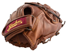 "Wrist strap on the Shoeless Jane Women's 11 3/4"" H-Web Fastpitch Softball Glove"