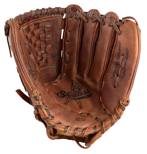 Palm view of the 12 1/2-Inch Basket Web Shoeless Joe Baseball Glove