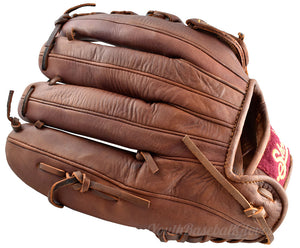 "Back view of Shoeless Joe Gloves 13"" Single Bar Outfielder's Glove"
