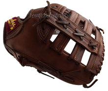 View along the Thumb of the 13 Inch Single Bar Outfielder's Glove