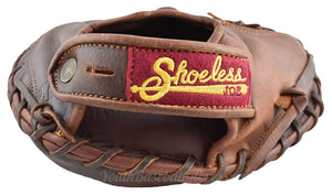 Wrist on the Vintage Shoeless Joe 1915 Catcher's Mitt