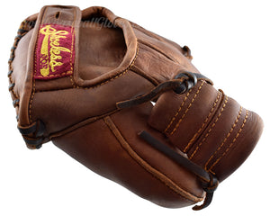 Thumb View of the Vintage 1937 Fielder's Glove Shoeless Joe Gloves Golden Era replica