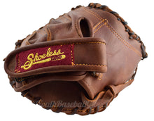 "Adjustable wrist strap on the 34"" Fastpitch Catcher's Mitt"