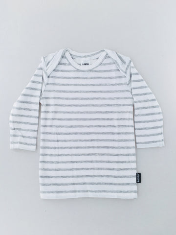 Bonds Baby - Stretchies Long sleeve Tee Grey Stripe (000 - 2)