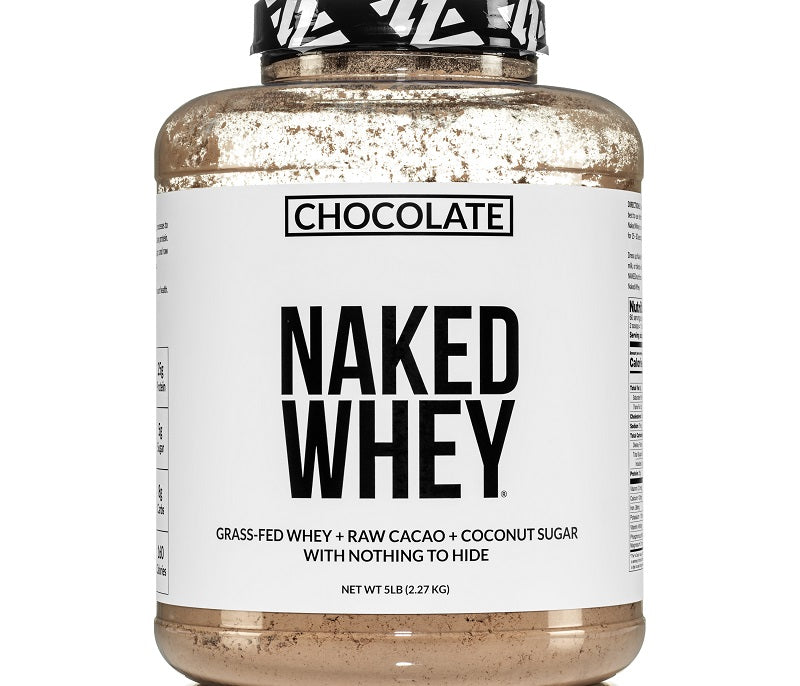 tub of cocolate whey protein