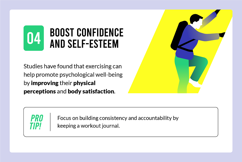 exercise boosts confidence and self esteem