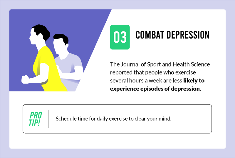 exercise combats depression