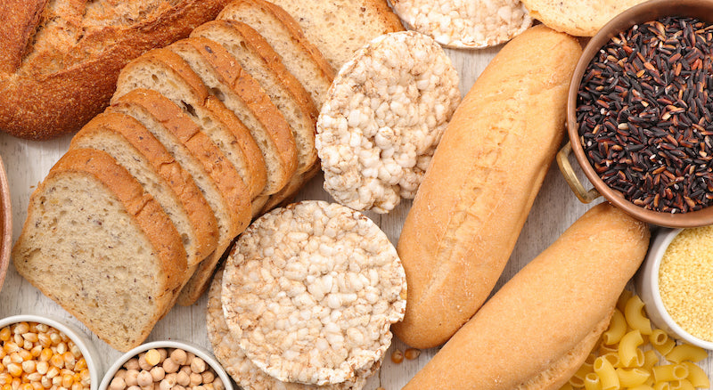 Various common foods that contain gluten