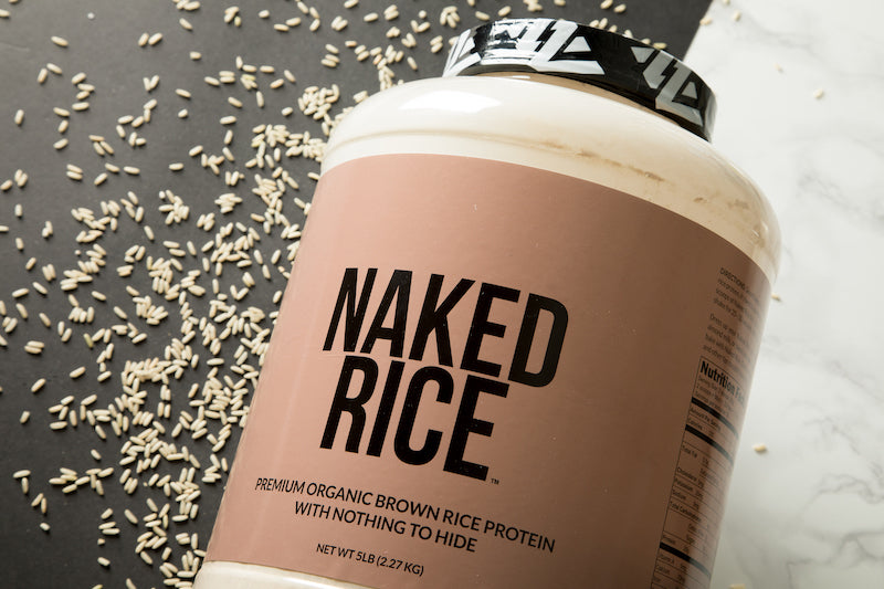 Naked Rice with a few grains of rice