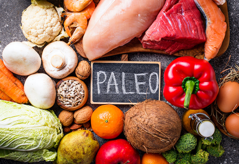 Paleo friendly foods on a table