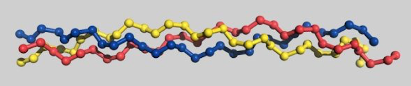 Image showing a graphic of the molecular structure of collagen