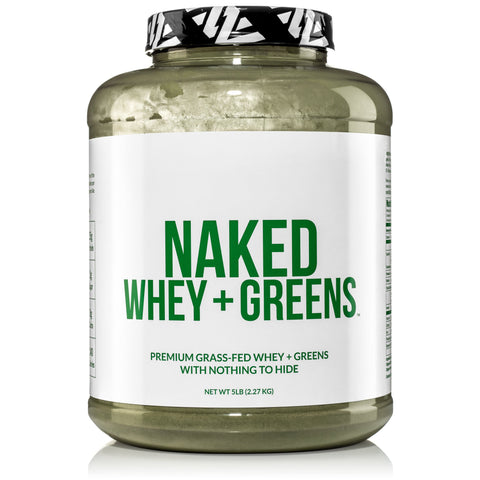 Super Greens Powder with Grass Fed Whey Protein | Naked Whey + Greens - 5lb