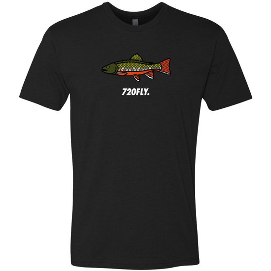 720fly fly fishing t-shirt brook trout