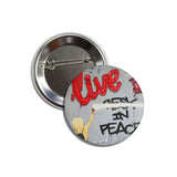Live in Peace - Button