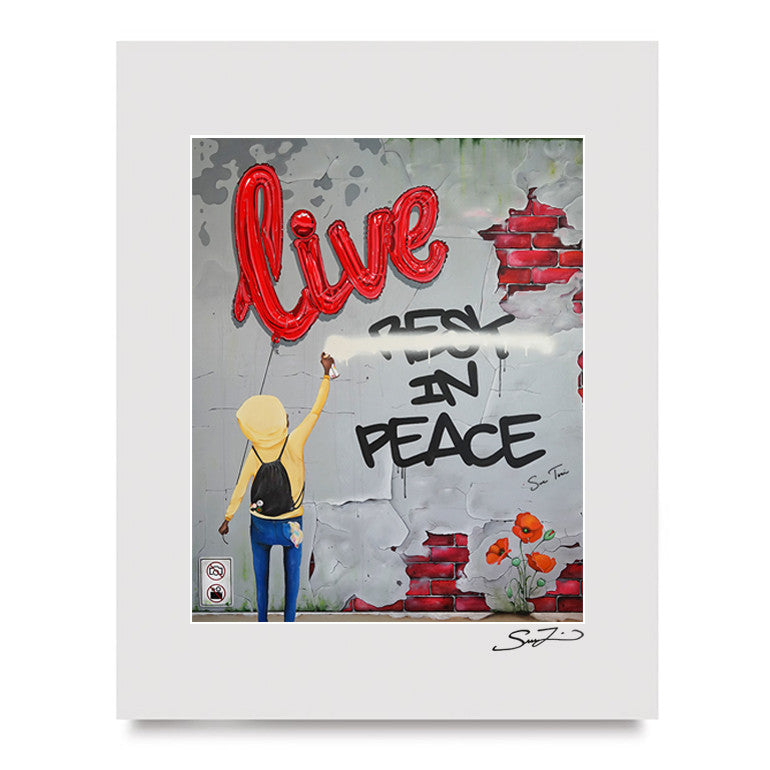 Live In Peace - Mini Print