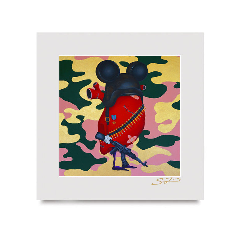 Love is a Battlefield - Mini Print