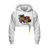 World Is Yours - Crop Hoodie (Gray)