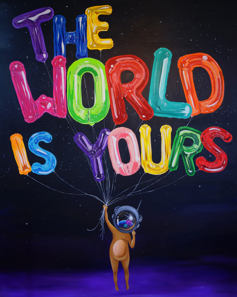 The World Is Yours Rolled Canvas Print Sue Tsai