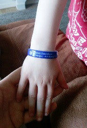 Children's medical alert silicone wristband dairy soya allergies