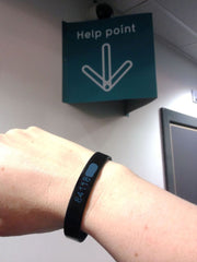 Custom silicone wristband - big help in remembering my Pure Gym access code