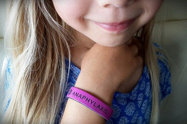 Girls Kids Wristband Anaphylaxis Medical Alert Band