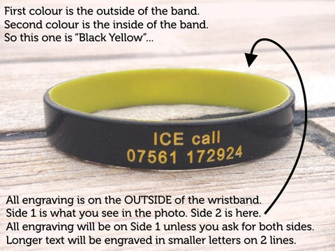 ID Wristbands Colour Engraving Info