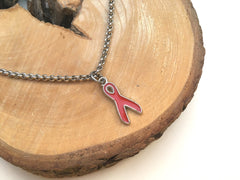 Ladies Heart Disease AIDS Red Ribbon Awareness Bracelet