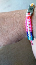 Ladies Medical Alert Bracelet Bright Summer Colours