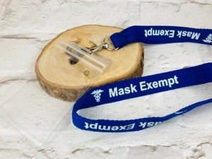 Lanyard don't have to wear face mask covering autism disability