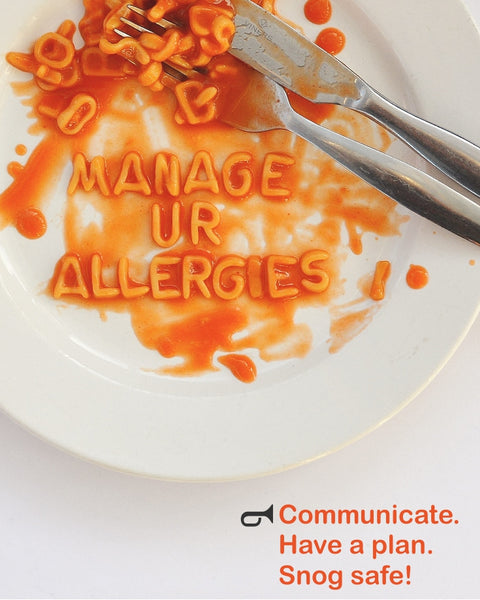 Manage your food allergy - communicate, plan and snog safe
