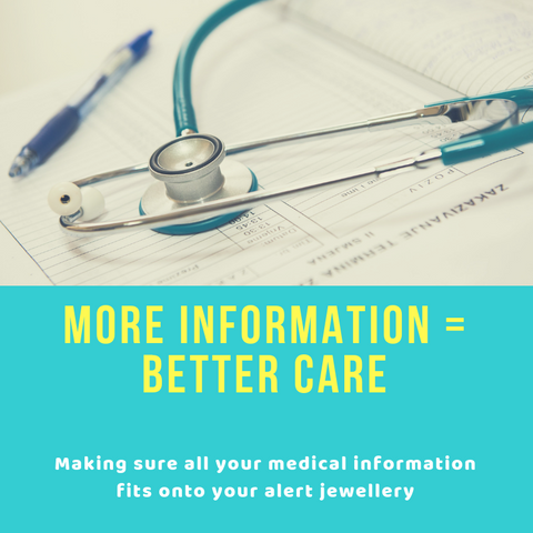 Getting text to fit on your Medical ID Jewellery