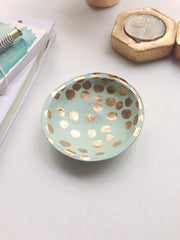 Mint Gold Dish - BeFREEDesigns, Etsy