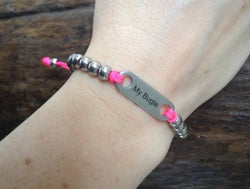 Ladies bracelet custom engraved message personalised