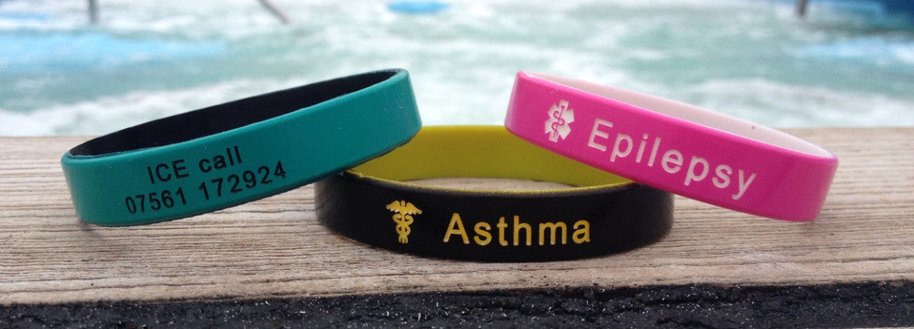 Medical alert wristbands swimming