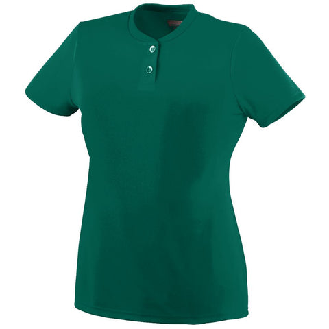 Ladies Wicking 2 Button Jersey