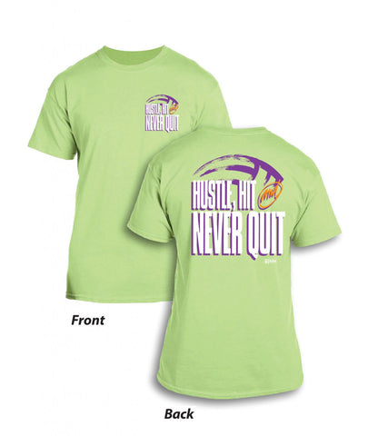 Never Quit - Mint Green T-Shirt