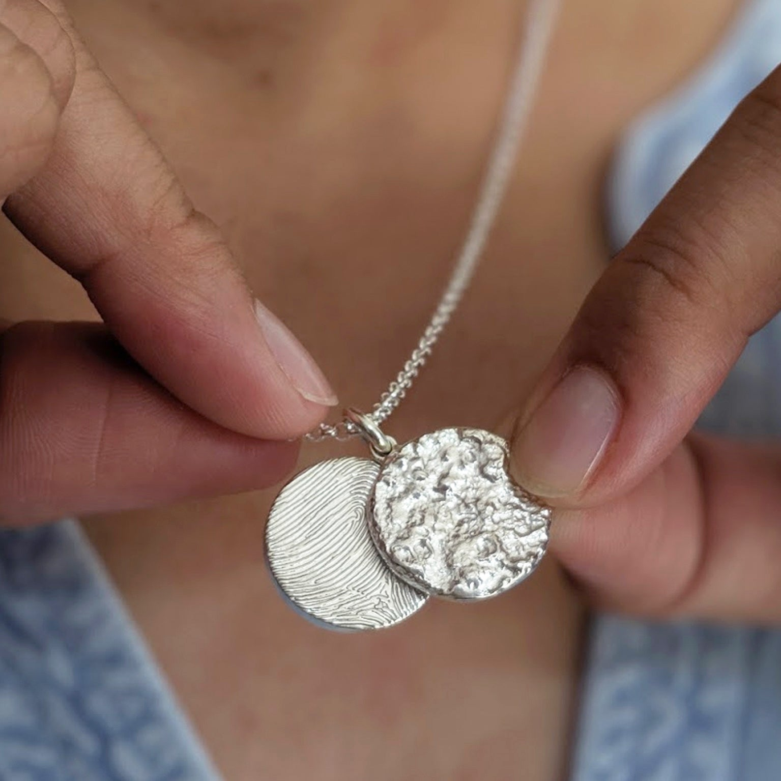 Fingerprint Jewellery | Moon Locket