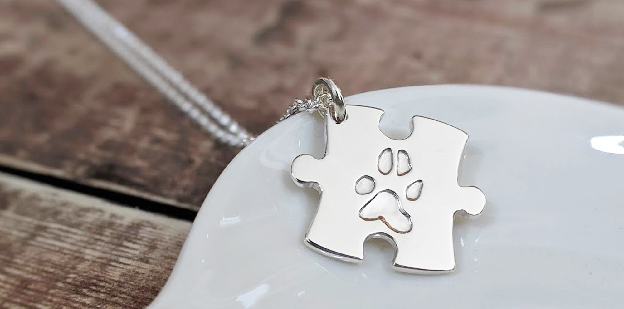 Pet Paw Print Jewellery in Silver or Gold