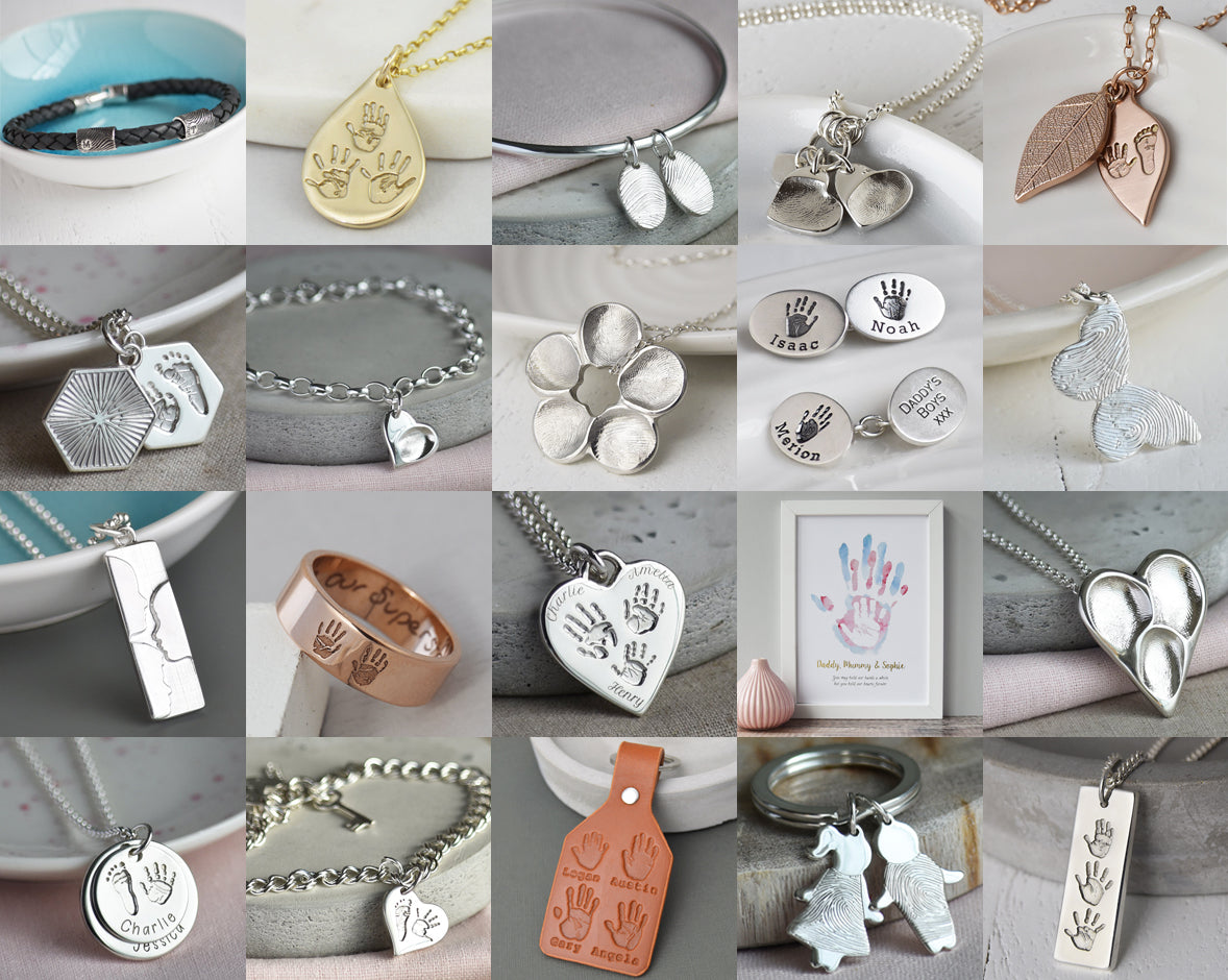 fingerprint jewellery for families with two three four five children