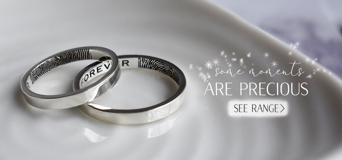 fingerprint jewellery | wedding rings