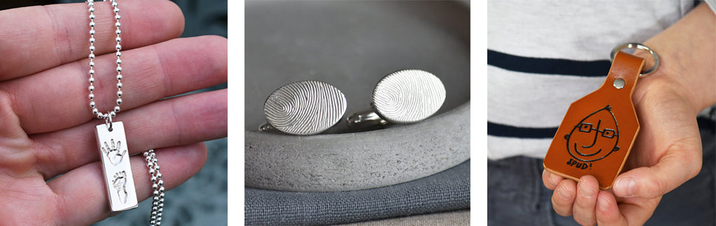 fingerprint jewellery personalised gifts for dad