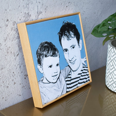 PERSONALISED VELVET PORTRAIT FRAME